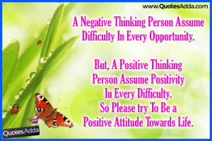 with Positive Quotations, positive Thinking Thoughts online, Negative ...