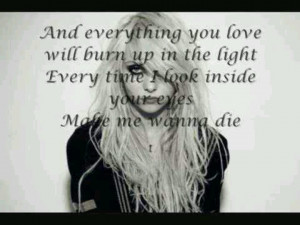 The Pretty Reckless: make me wanna die