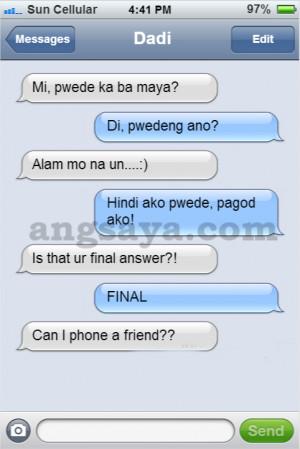 Sex on Text Text Fail, Pinoy Joke, Pinoy Tagalog Joke, Green Mind Joke ...
