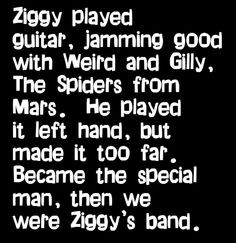 david bowie ziggy stardust song lyrics music lyrics song quotes music ...