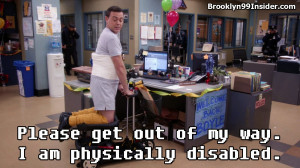 Scooter: Please get out of my way. I am physically disabled.