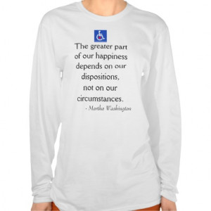 Martha Washington Quote Tee Shirts