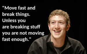 Marc ZUckerberg face picture on black background with quote: