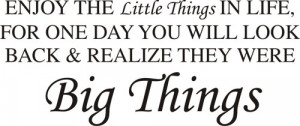 Enjoy the little things in life quote wall decal sticker art graphic ...
