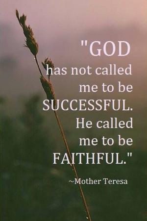 to be faithful