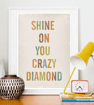 print, lyrics art, Typographic poster, Letters, Shabby chic wall decor ...