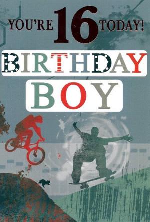 boys happy 16th birthday card source http cakechooser com boy 16 ...