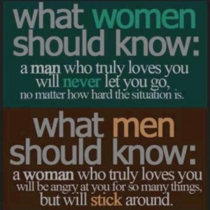Things men and women should know