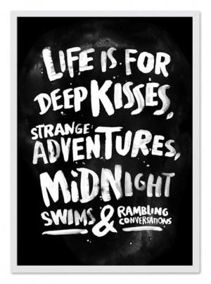 love kisses life quotes conversations white true black Friendship deep ...
