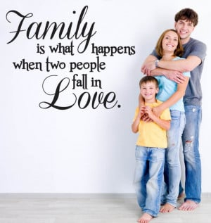 ... about Vinyl Wall Decal Family Love Quote *Choose Color* Home Decor Art