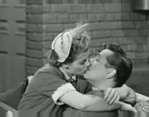 Lucy and Ricky Ricardo kiss
