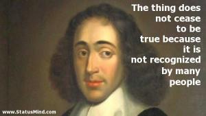 ... by many people - Benedictus de Spinoza Quotes - StatusMind.com