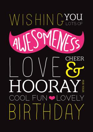 Engels snor happy mustache birthday card 1