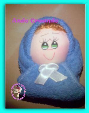 vestido de toalla para recuerdo de baby shower
