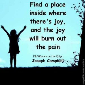 Burn out the pain