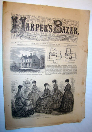 Harper's Bazar (Bazaar), October 16 1869 - A Repository of Fashion ...