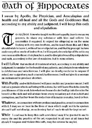 Hippocratic Oaths cartoon 1