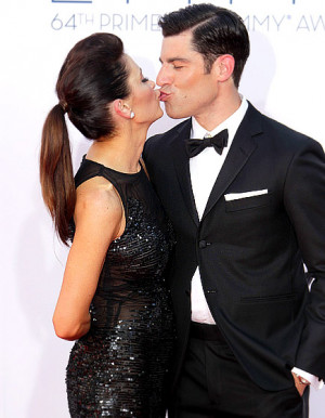 Max Greenfield and Tess Sanchez