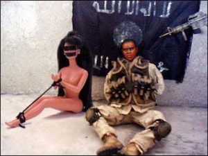 Toy Action Figure Hostage With Woman