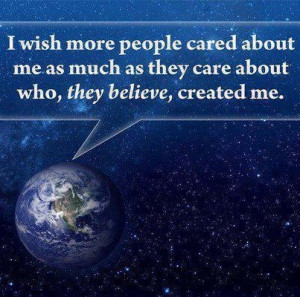 Care about me...the Earth