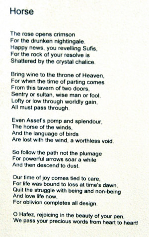 Hafez horse poem.
