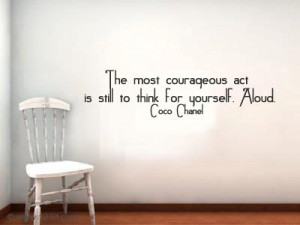 ... to think for yourself. Aloud. Vinyl Wall Quote Decal Custom Colors