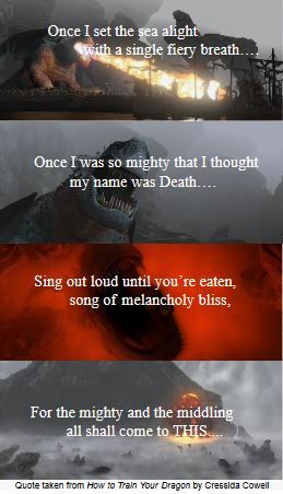 Part of a poem from How to Train Your Dragon by Cressida Cowell