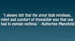 katherine mansfield quote