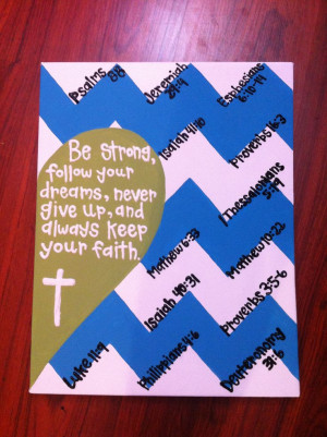 Personalized life quote & bible verse acrylic paint canvas