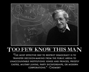 Noam Chomsky--for sure more people know about glen beck!! how sad is ...