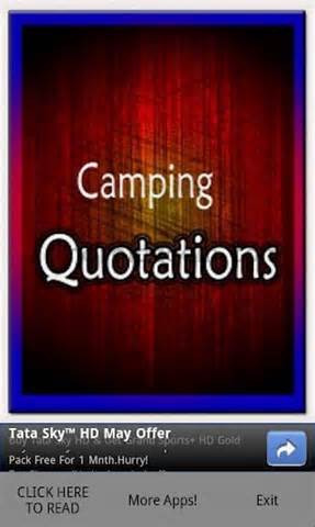 Camping Quotations