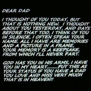 Miss you dad! Happy birthday xx