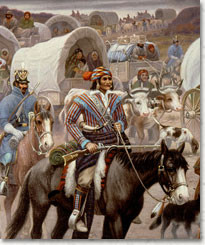 rendition of the Cherokee on the 'Trail of Tears.'