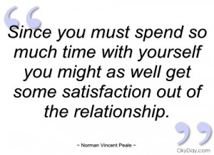 since you must spend so much time with norman vincent peale