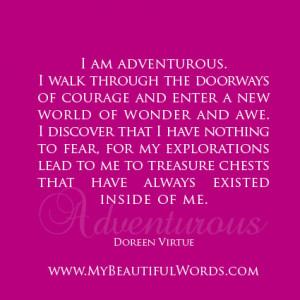 am Adventurous...