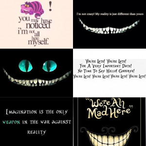 Cheshire Cat - quotes - DisneyDisney Quote Tattoos, Wonderland Quotes ...