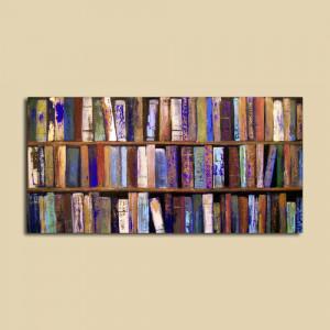 dizzysbookshelf:Abstract Painting Library Books 24 x 48 ...