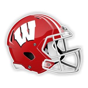 Wisconsin Badgers New Shape Helmet Vinyl Die-Cut Decal / Sticker ** 4 ...