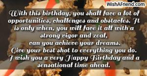 Wish you a super 21st birthday!