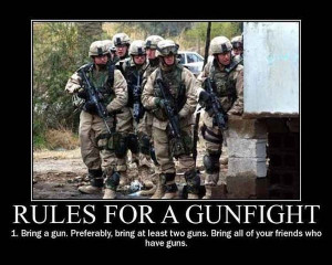 military-humor-funny-joke-soldier-rules-for-a-gunfight-army-war