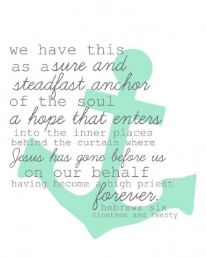 Hebrews 6:19-20 | Christian Quotes