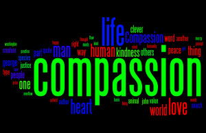 compassion quotes word cloud