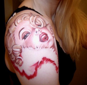 celeb tattoos designs of marilyn monroe tattoo
