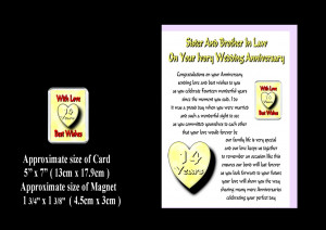 SISTER-BROTHER-IN-LAW-1ST-TO-24TH-WEDDING-ANNIVERSARY-CARD-MAGNET-GIFT