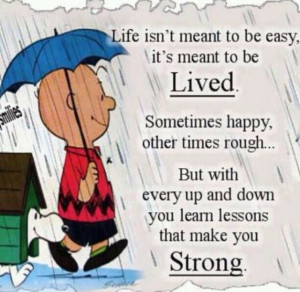 To Be Easy, It's Meant To Be Lived! Sometimes Happy, Other Times Rough ...