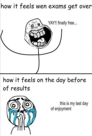 college students celebrates after a very long exam !!! but cries wen ...