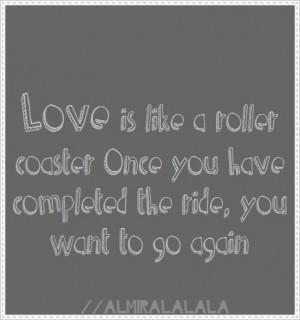 relationship like a roller coaster