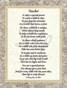 teacher poem | Teacher poem is about a special teacher. Poem may be ...
