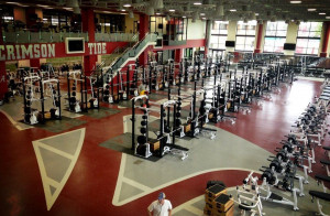 University-of-Alabama-Athletics-new-weight-room.-Racks-on-Racks-on ...