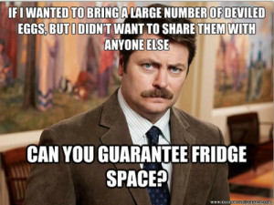 The Best Ron Swanson Food Quotes.